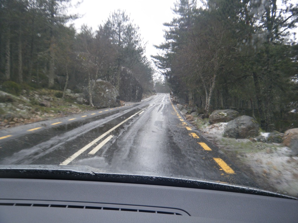 Slush on the road!! In Portugal!! In May!!!!!!!!!!